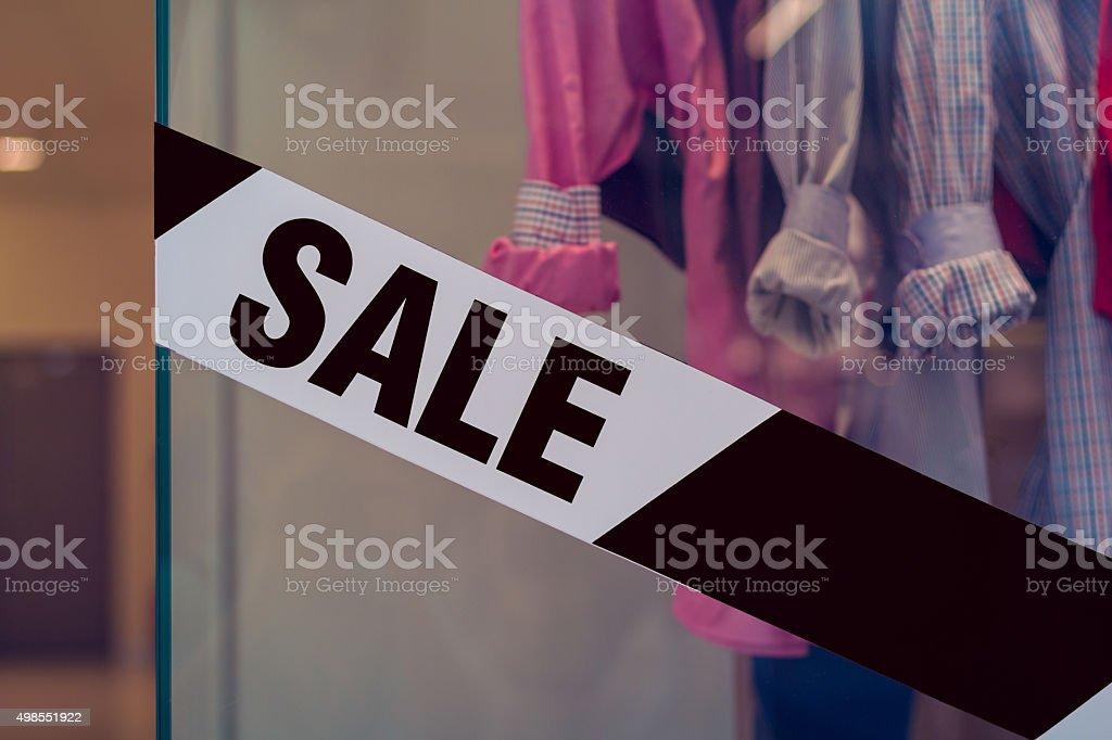Clothing store - SALE - black friday stock photo