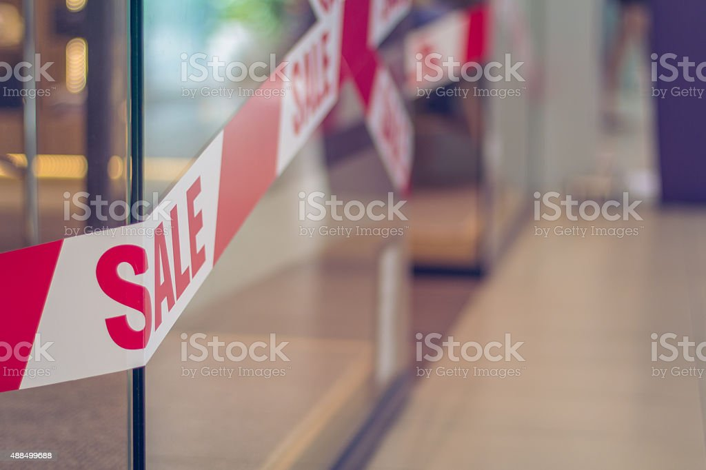 Clothing store - SALE stock photo
