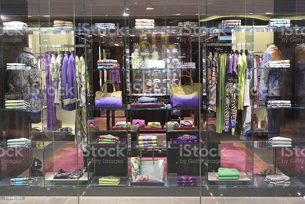 clothing store window royalty-free stock photo