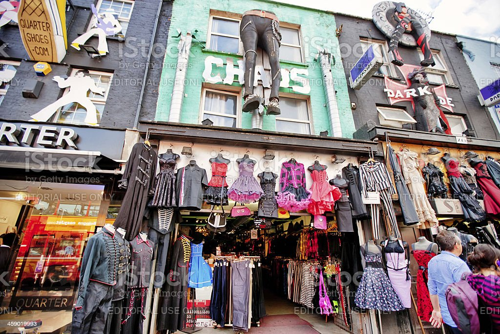 Clothing Stores in Camden Town, London royalty-free stock photo