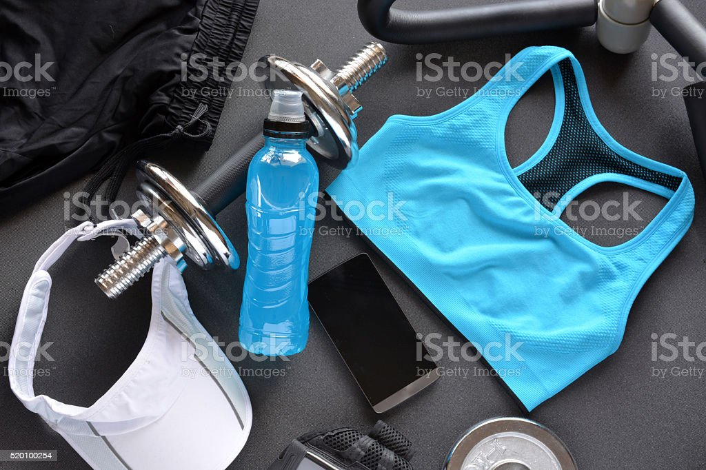 clothing women's fitness stock photo