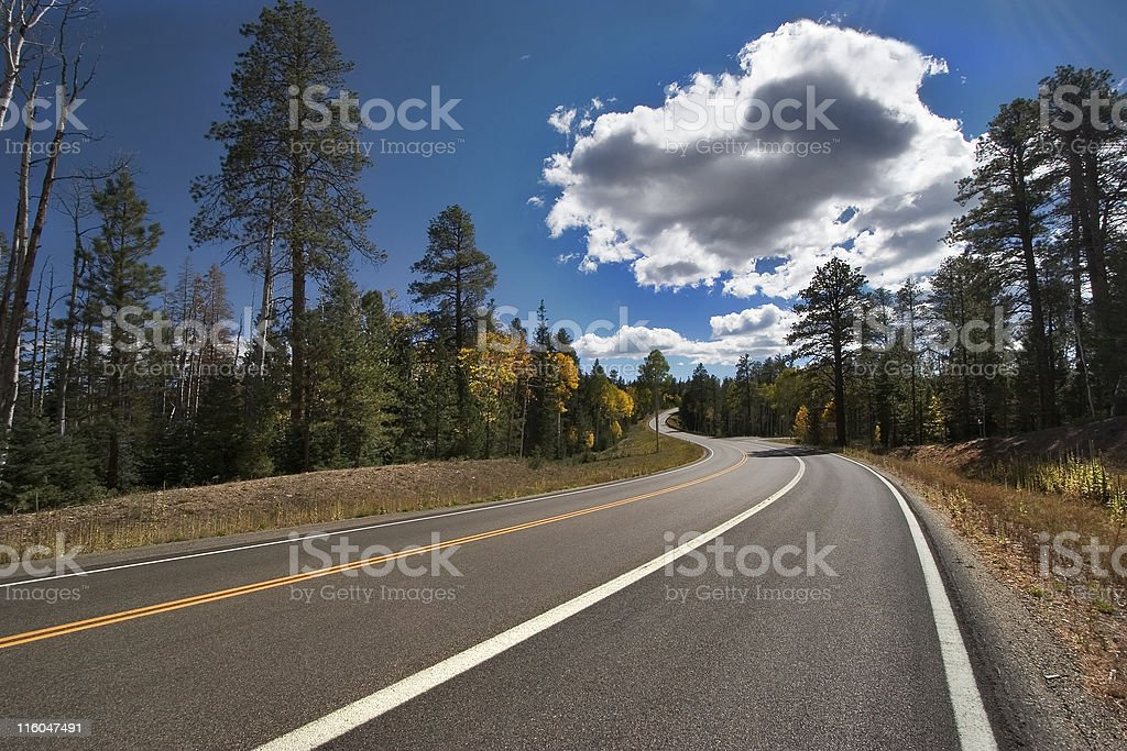 Cloud above highway. royalty-free stock photo