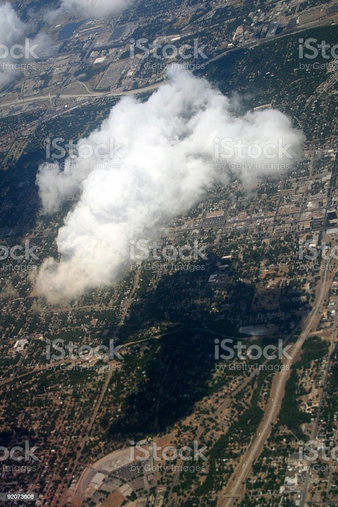 Cloud Above Town royalty-free stock photo
