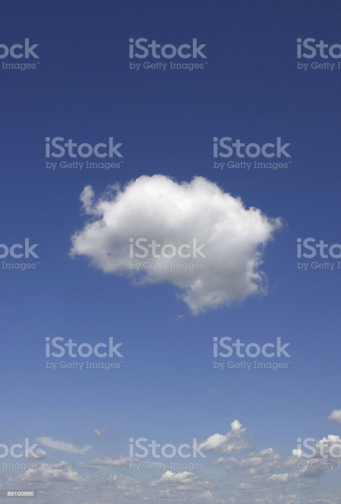 Cloud alone royalty-free stock photo