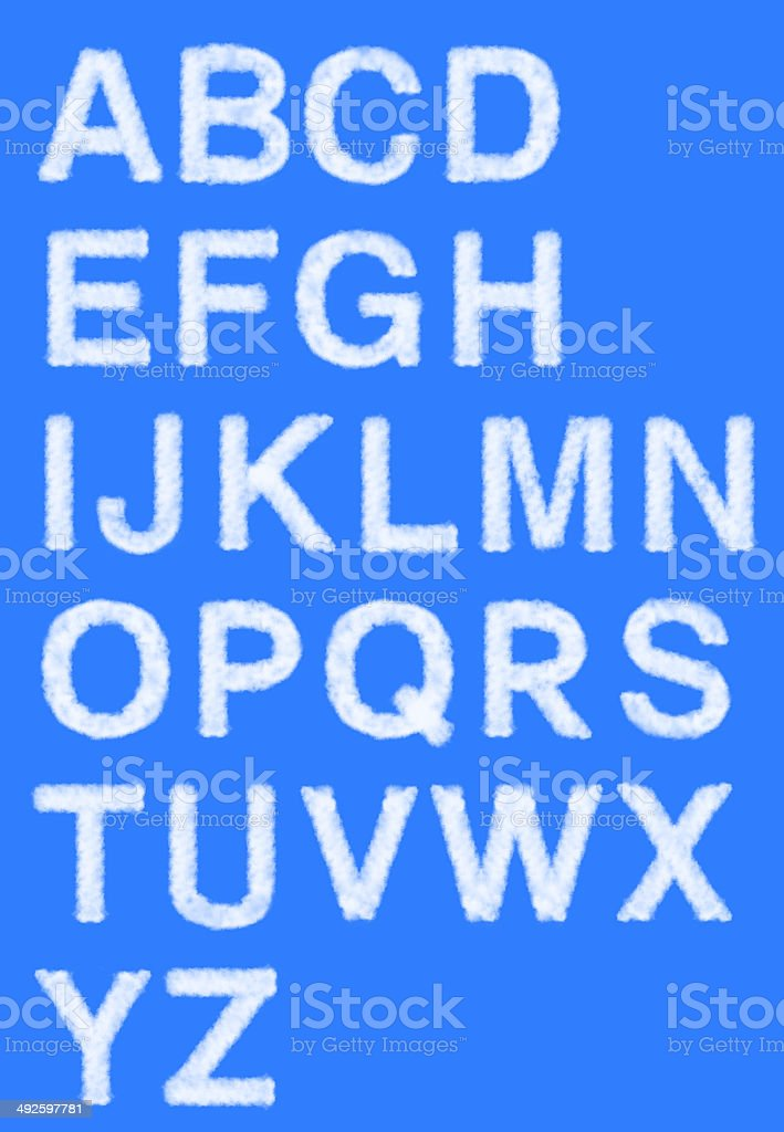 Cloud alphabets royalty-free stock photo