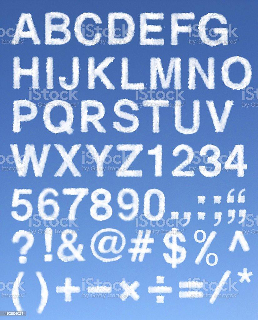 Cloud alphabets stock photo