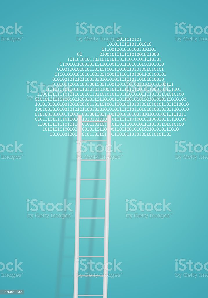 Cloud and ladder stock photo