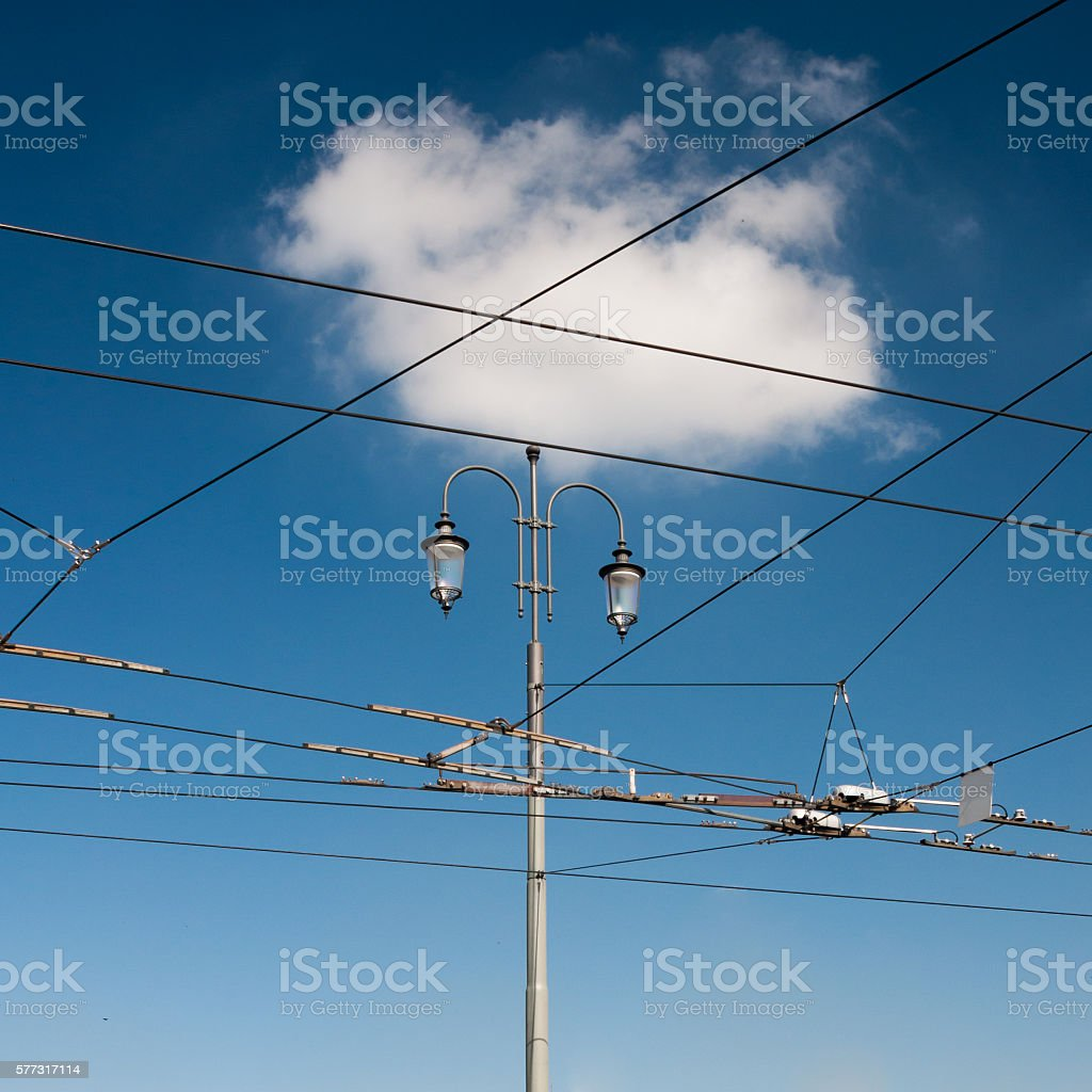cloud and lamp stock photo