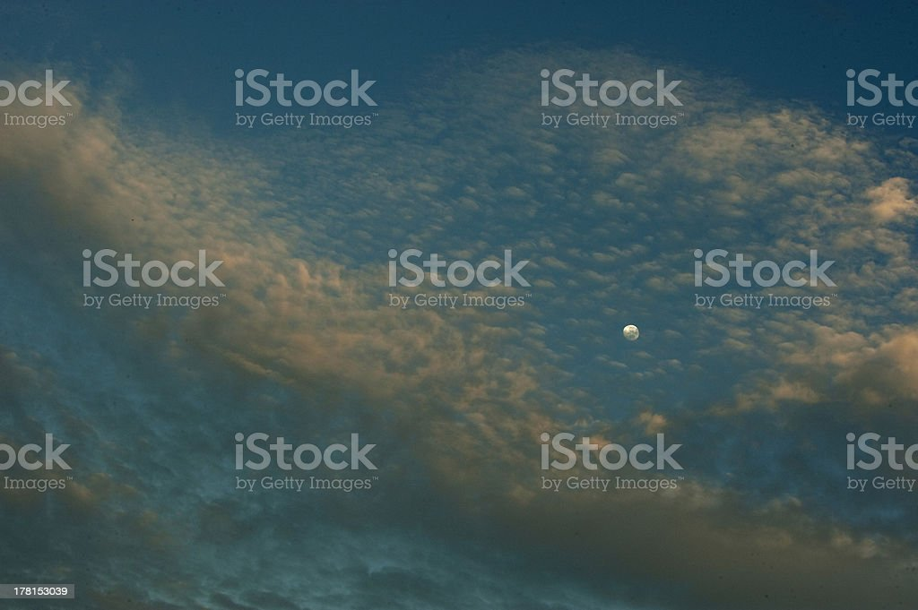 Cloud and moon royalty-free stock photo