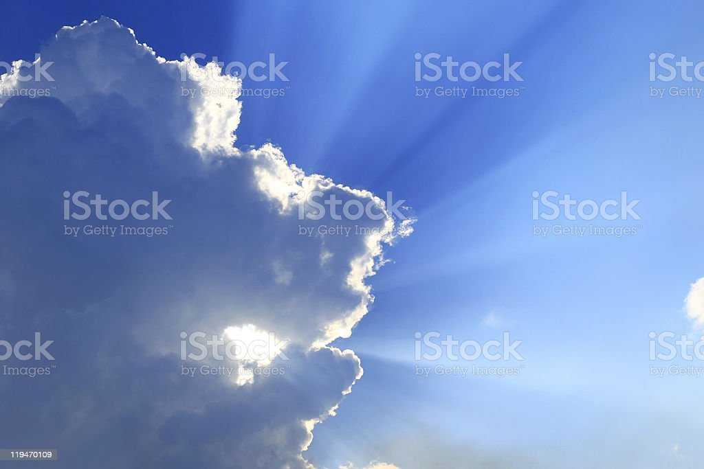cloud and sunlight royalty-free stock photo