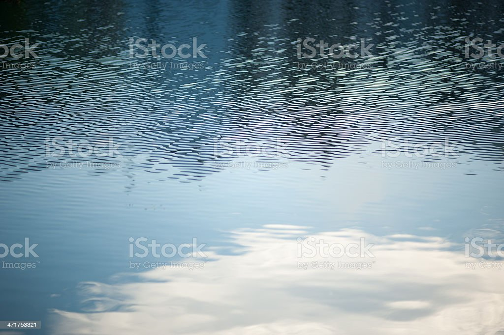 Cloud and Water Abstract stock photo