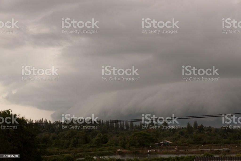 Cloud arcus thunderstorms. stock photo