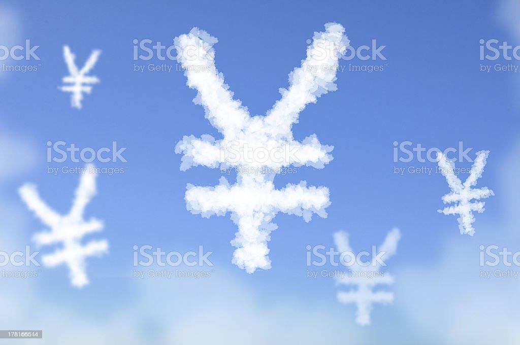 Cloud as Japan Yen royalty-free stock photo