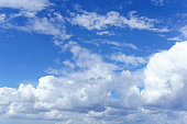 Cloud Background With Blue Sky