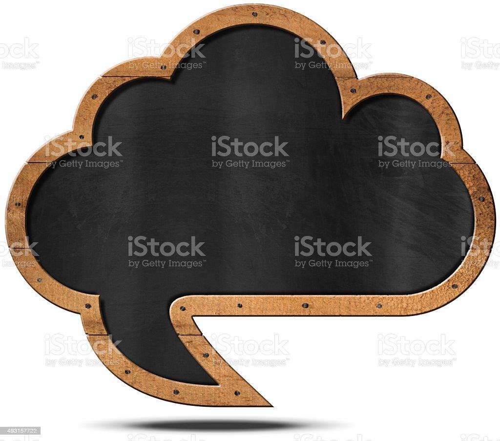 Cloud Blackboard - Speech Bubble Shaped stock photo