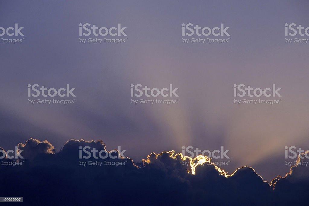 Cloud Burst royalty-free stock photo