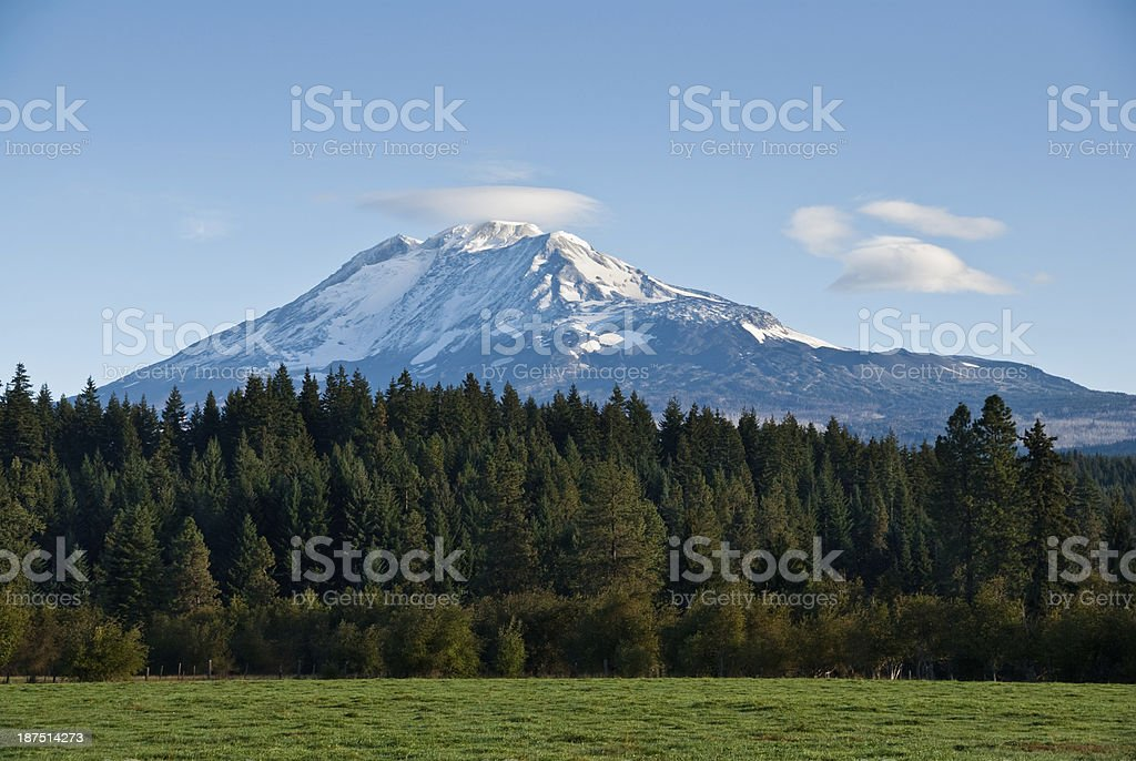 Cloud Cap on Mount Adams stock photo