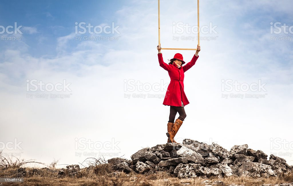 Cloud catcher royalty-free stock photo