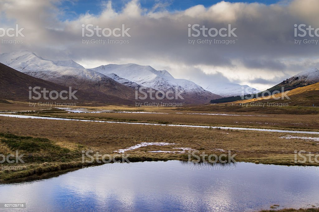 Cloud Clearing from Glen Shiel stock photo