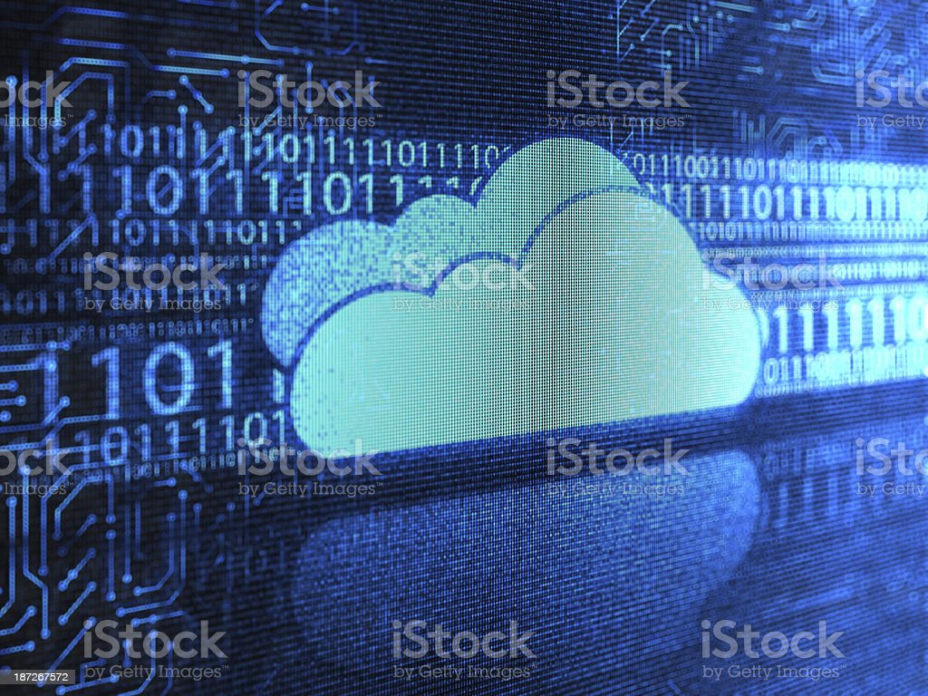 Cloud code royalty-free stock photo
