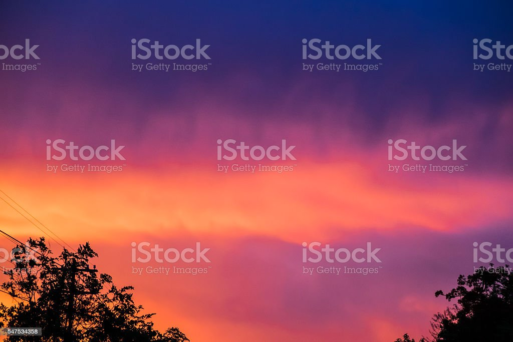Cloud colorful at twilight sunset stock photo