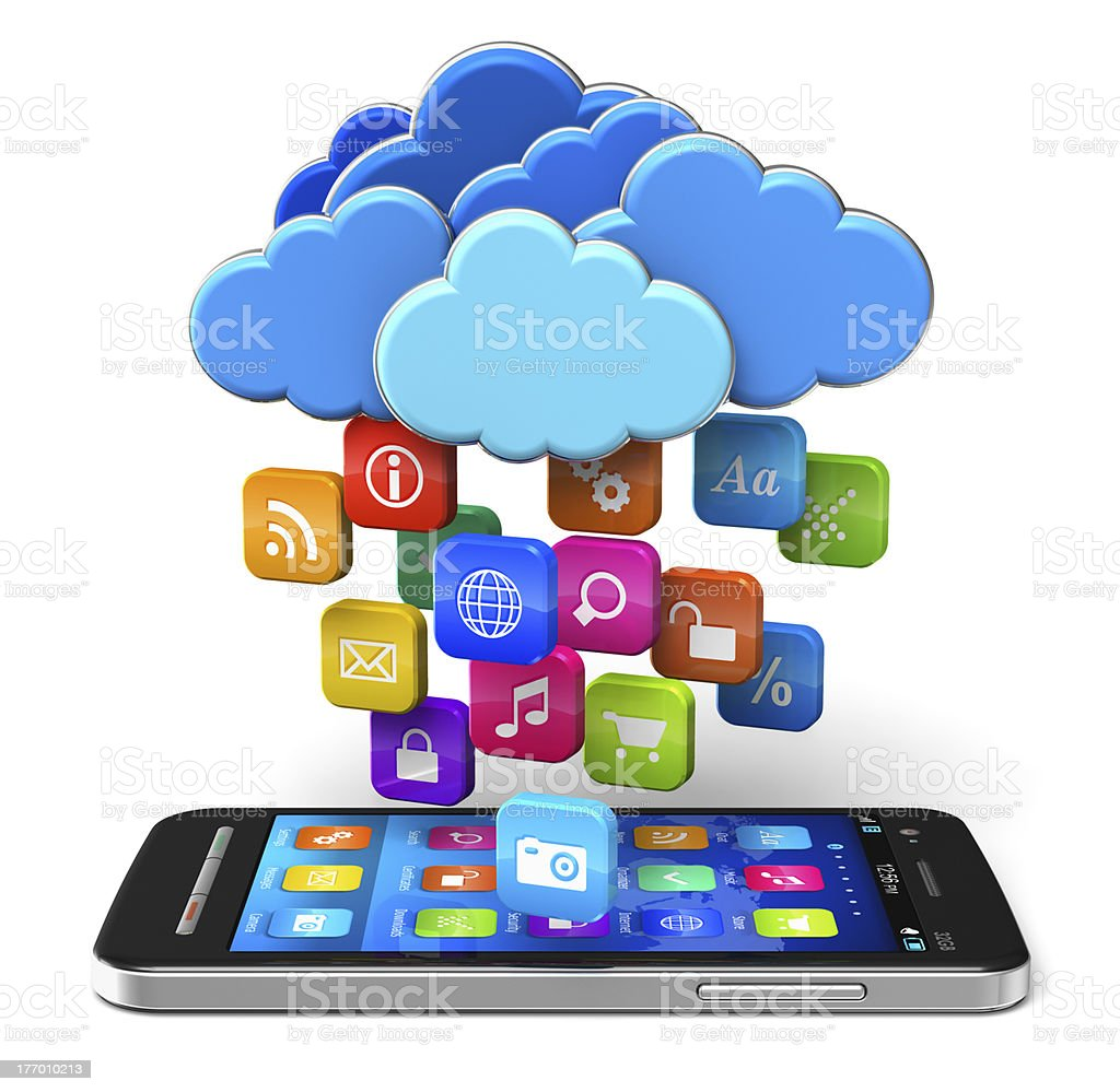 Cloud computing and mobility concept royalty-free stock photo