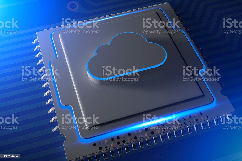 Cloud Computing and Storage stock photo