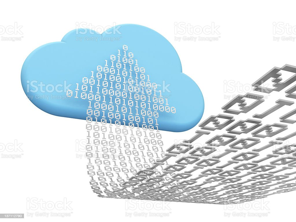 cloud computing and uploading stock photo