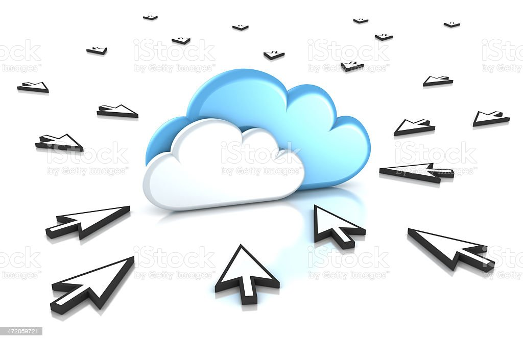 Cloud computing and users. royalty-free stock photo