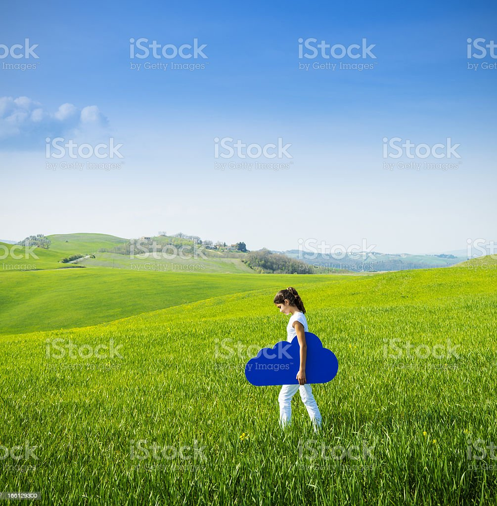 Cloud computing anywhere royalty-free stock photo
