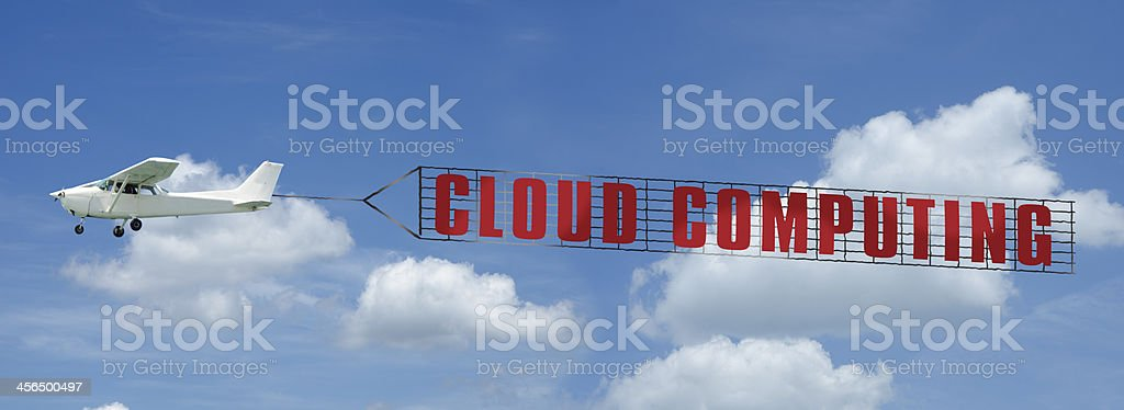 Cloud Computing Banner stock photo