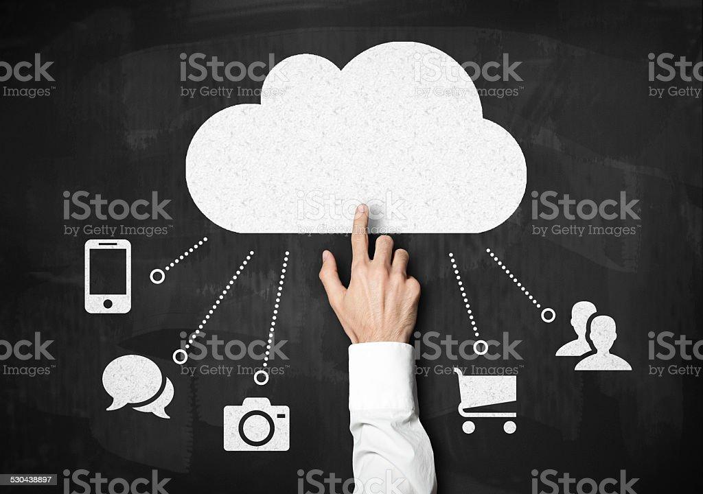 Cloud computing / Blackboard (Click for more) stock photo