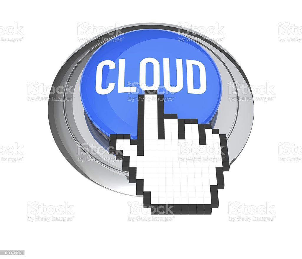 Cloud Computing Button royalty-free stock photo