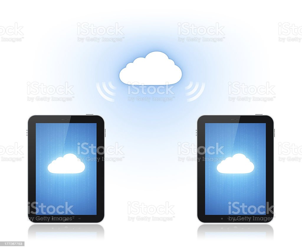 Cloud Computing Communication royalty-free stock photo