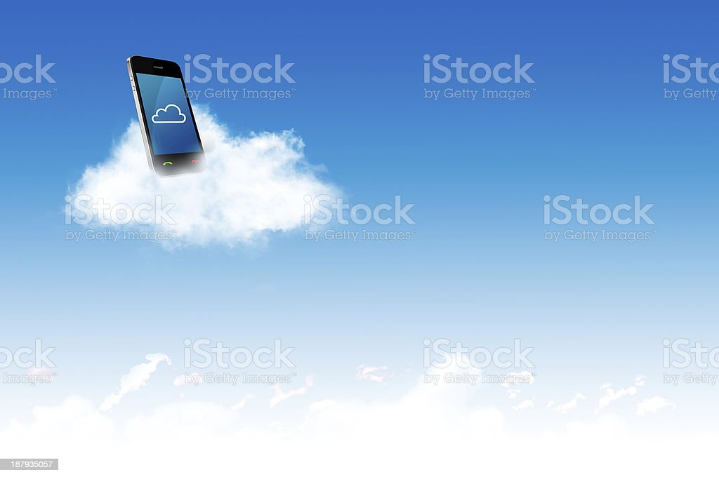 Cloud computing concept and business royalty-free stock photo