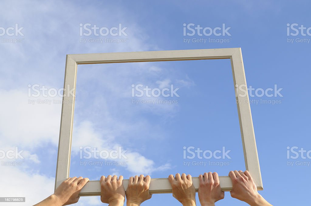 Cloud Computing Concept Blue Sky royalty-free stock photo
