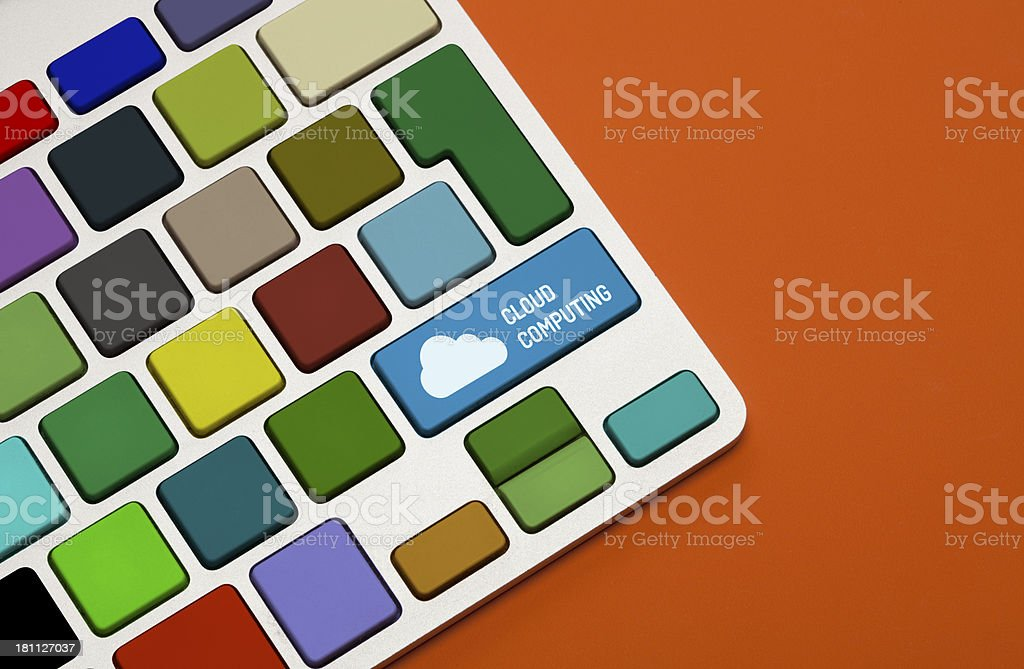 Cloud Computing Concept on Keyboard royalty-free stock photo