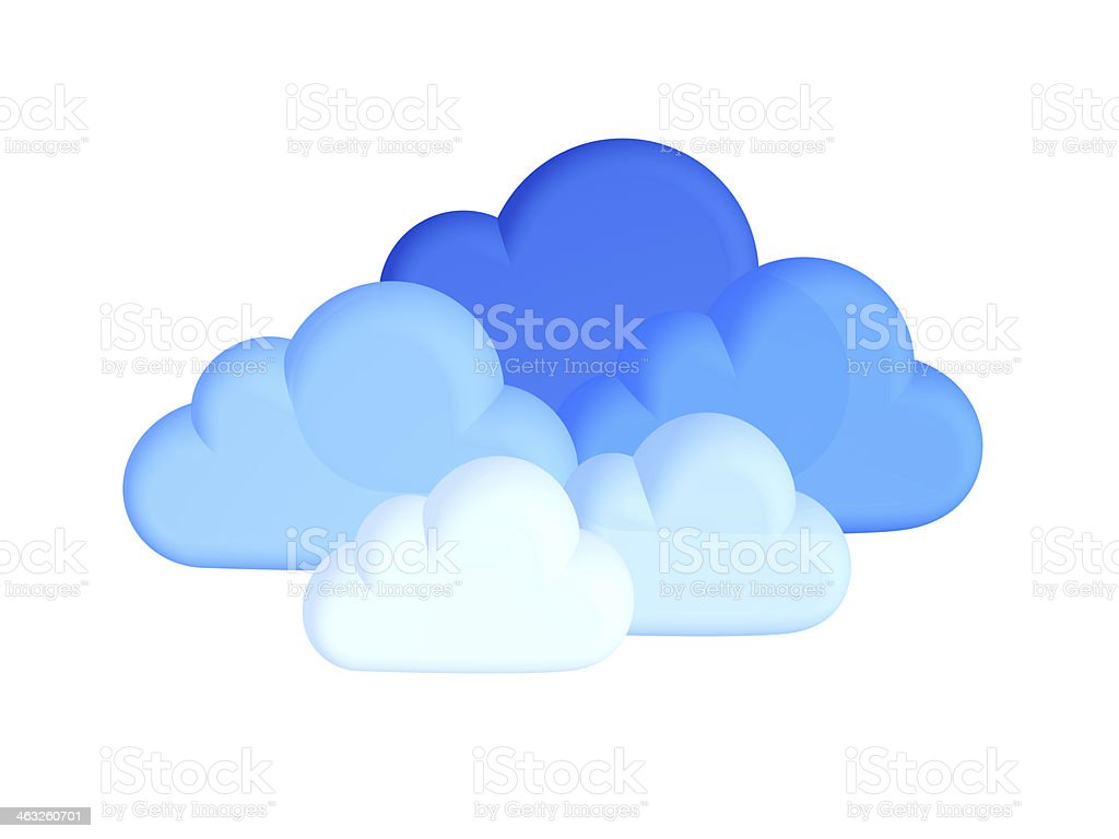 Cloud computing concept on white royalty-free stock photo