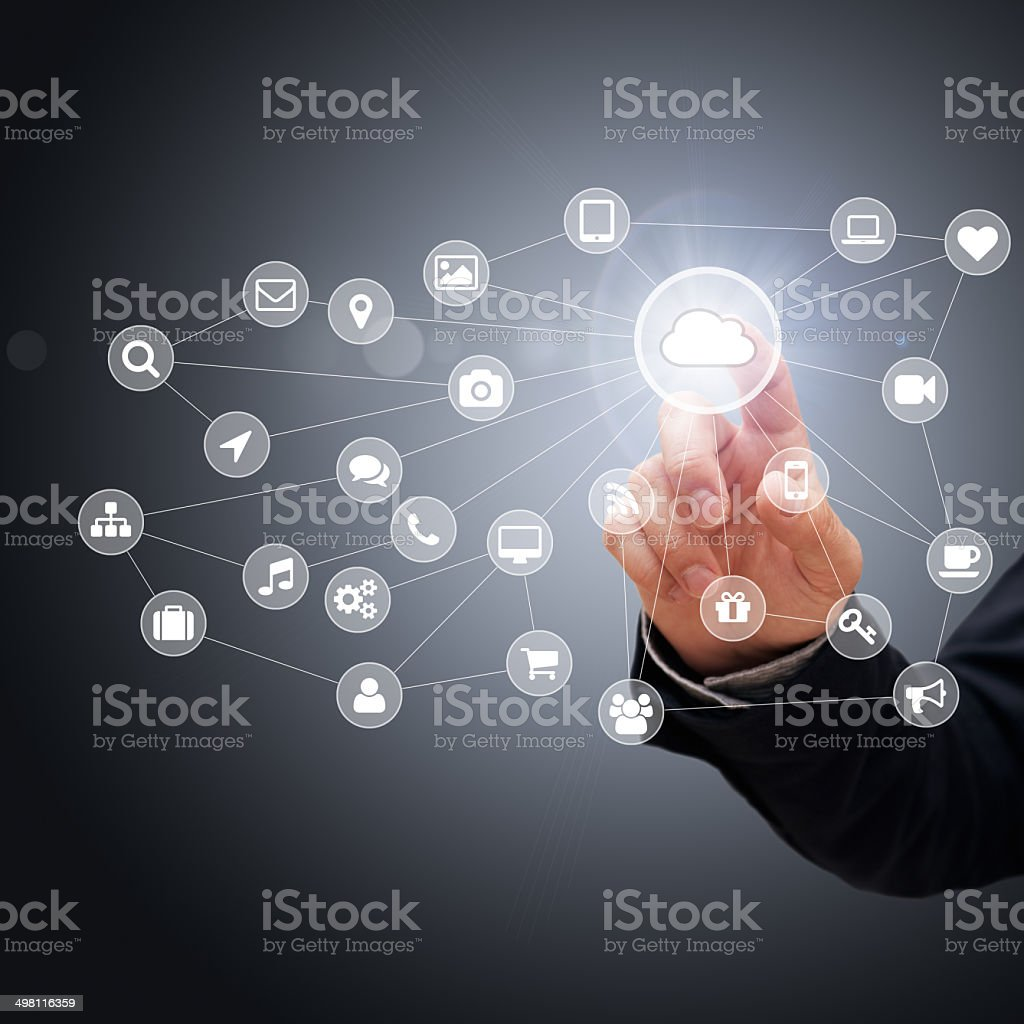 Cloud Computing Concept stock photo