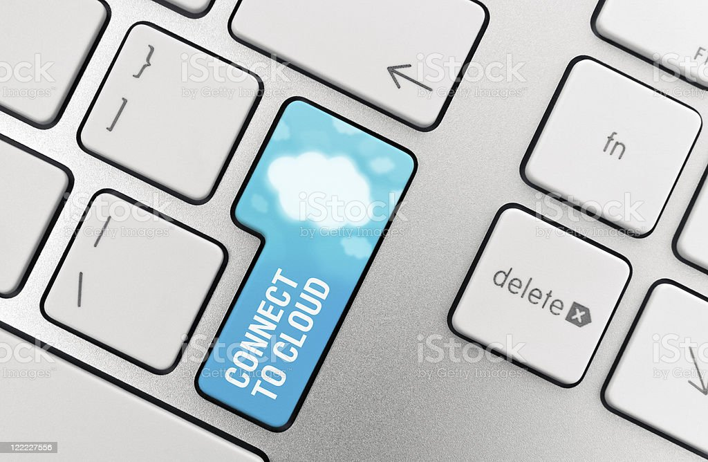Cloud Computing Connect Button royalty-free stock photo