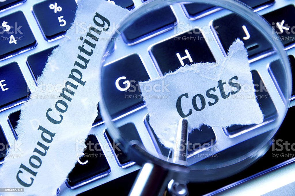 Cloud Computing Costs royalty-free stock photo