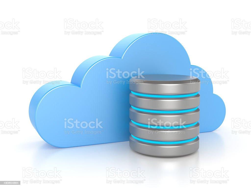 Cloud computing. Database concept stock photo