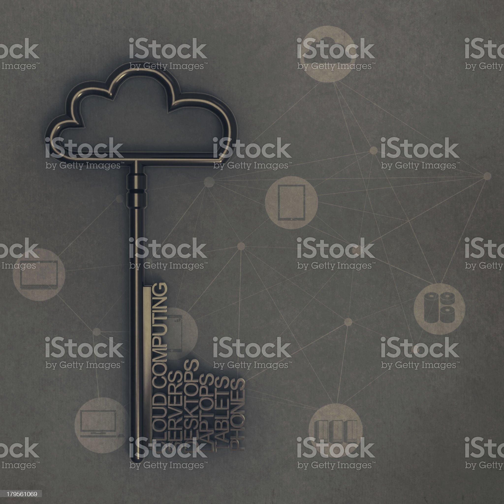 Cloud computing diagram royalty-free stock photo