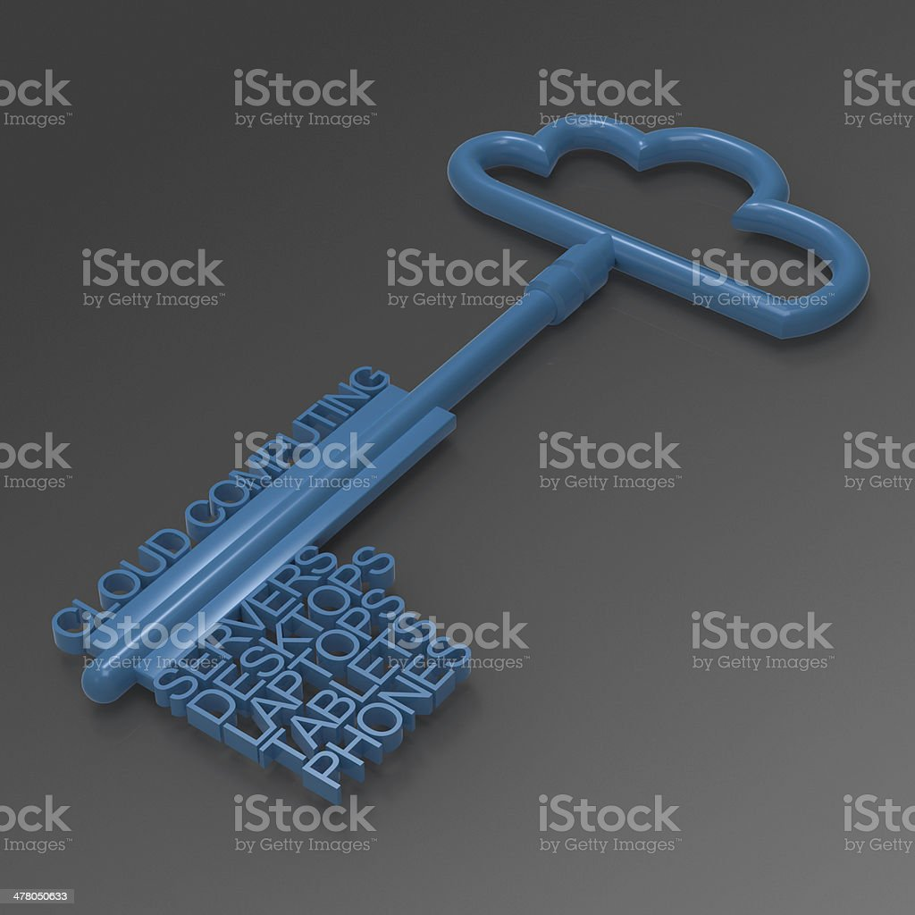 Cloud computing diagram royalty-free stock photo