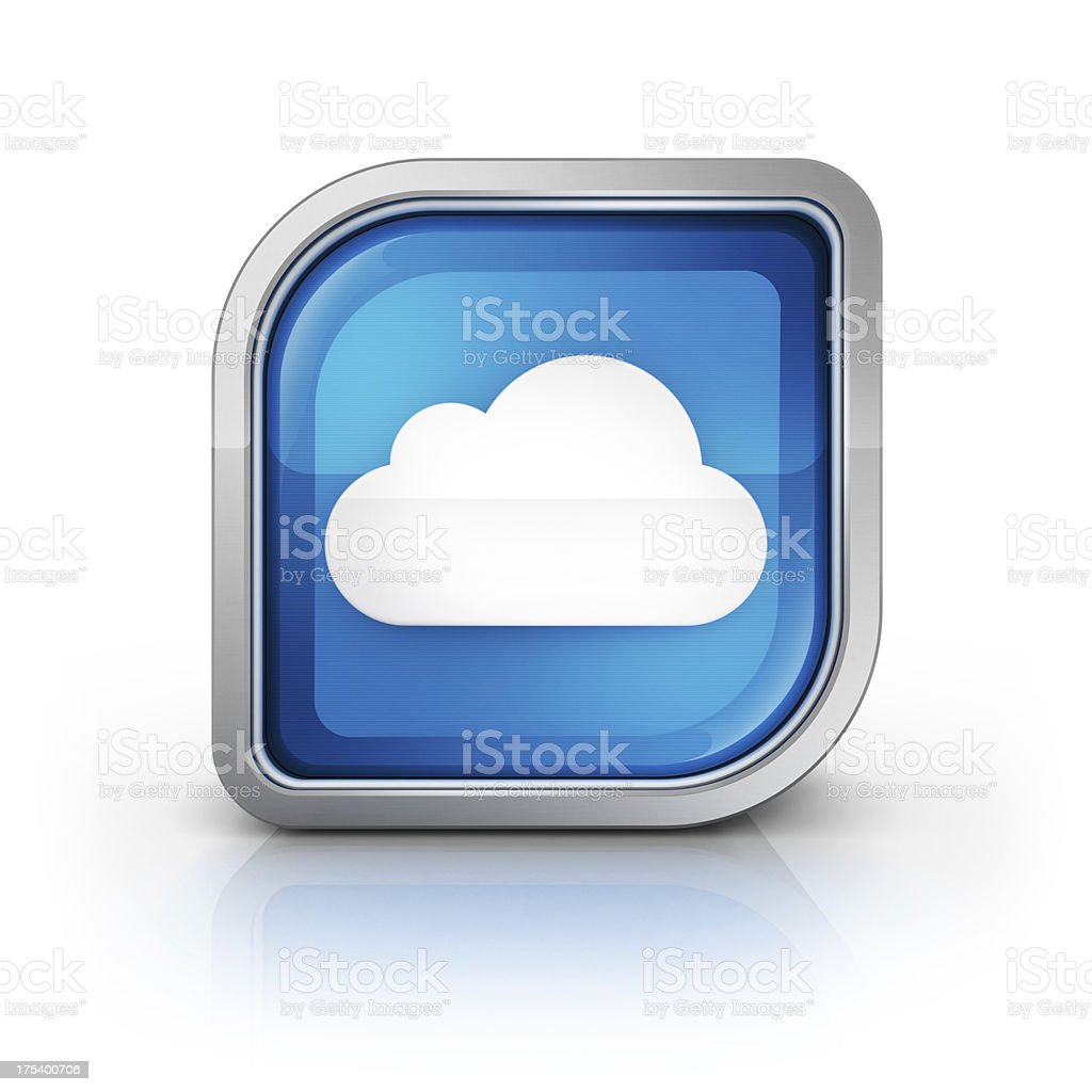 cloud computing glossy icon royalty-free stock photo