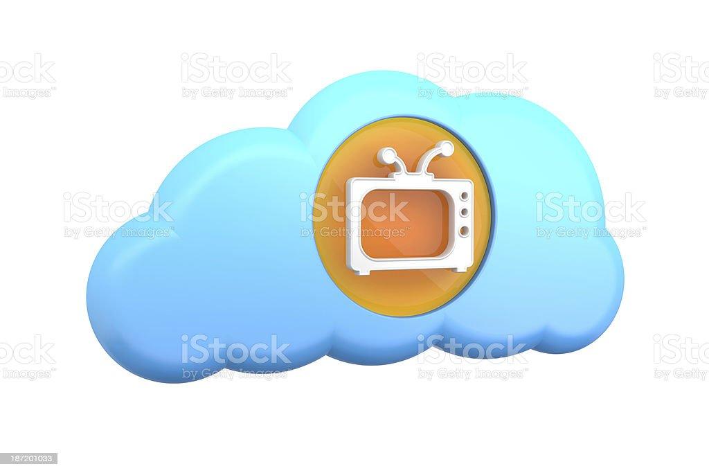 cloud computing icon: TV stock photo
