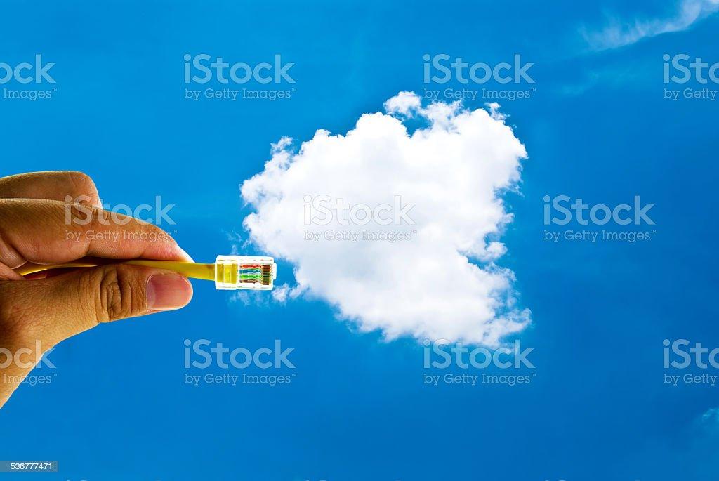 Cloud computing innovation digital concept stock photo
