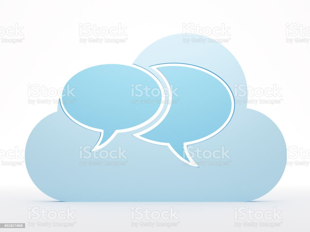 Cloud computing, messages stock photo