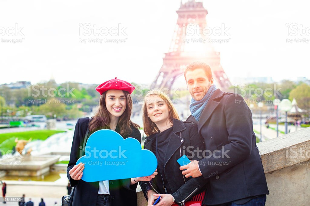 Cloud Computing Paris stock photo