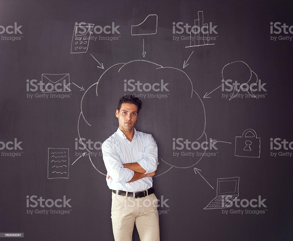 Cloud computing schema stock photo